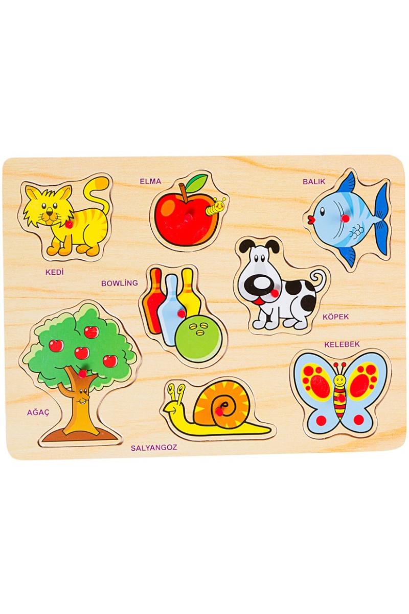 Bu-Bu Ahşap Puzzle Hayvanlar Bubu-Ap0029