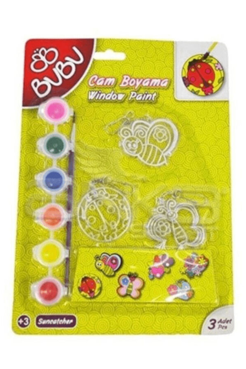 BU-BU Cam Boyama Seti Anahtarlık