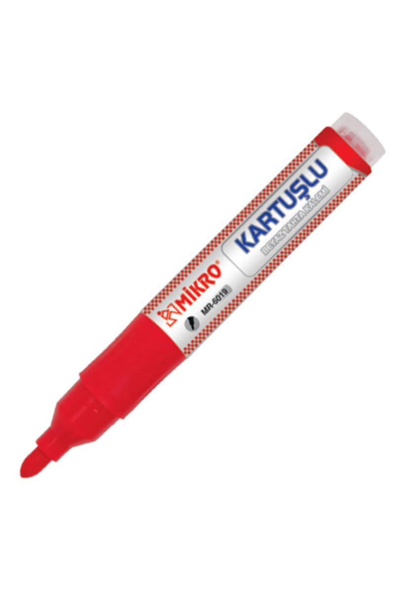Mikro Kartuşlu Beyaz Takta Kalemi Kırmızı