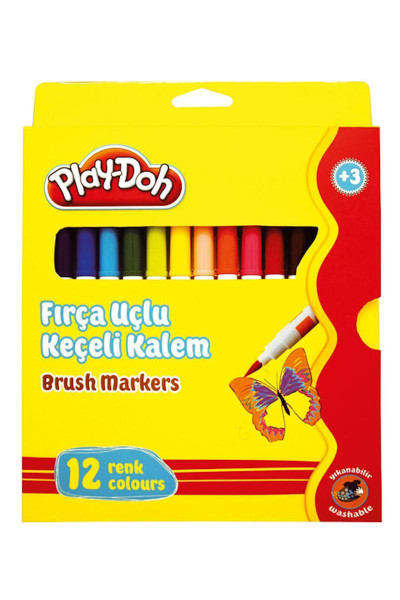 Play-Doh Fırça Uçlu Keçeli Kalem 12 Renk