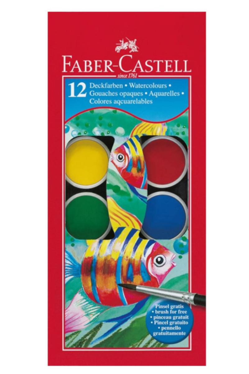 Faber Castell Redline Suluboya 12 Renk Büyük Boy