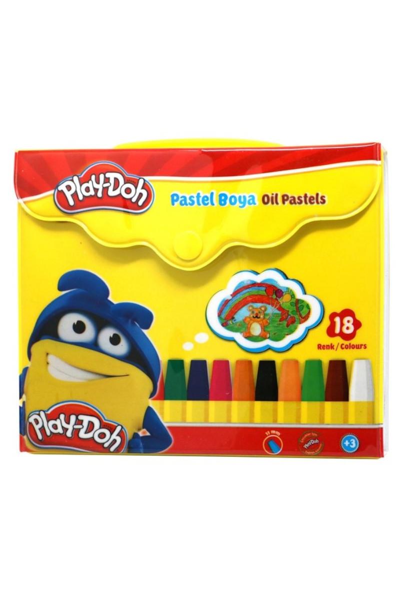 Play-Doh Pastel Boya Çantalı 18 Renk