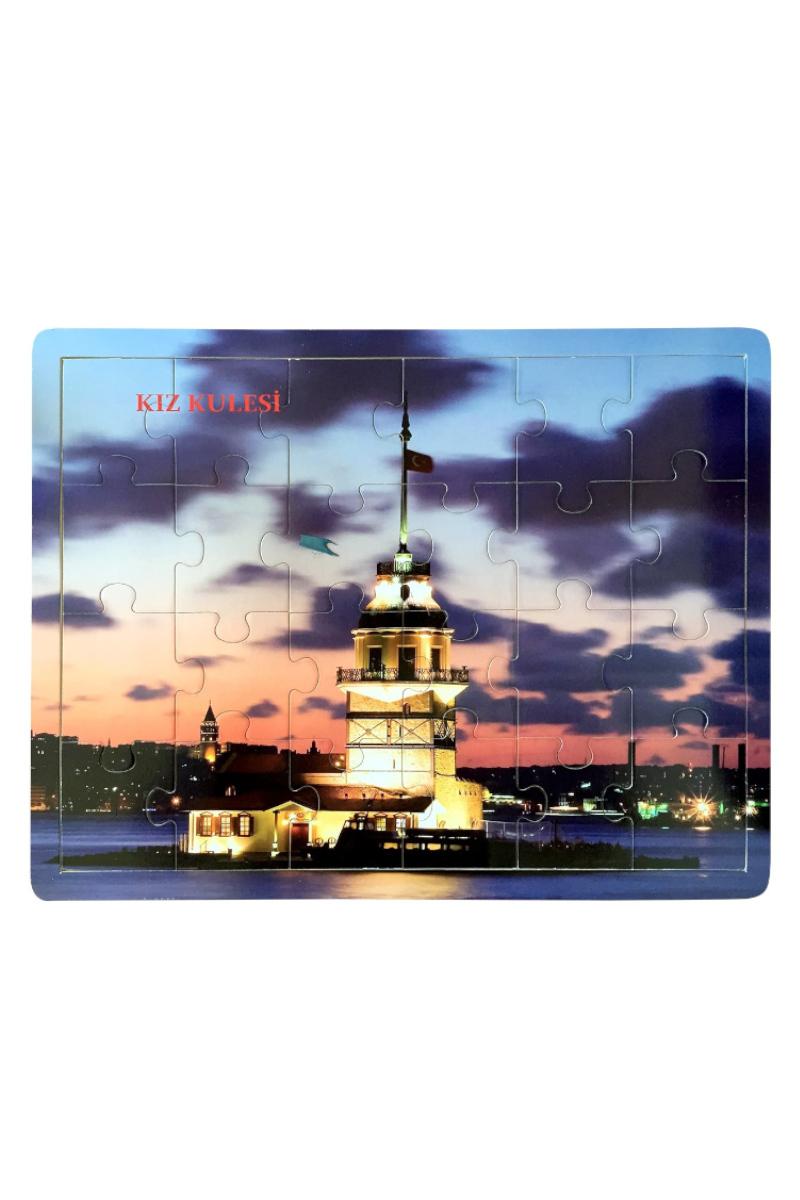 Ceo Ahşap Puzzle Kız Kulesi 40x30cm