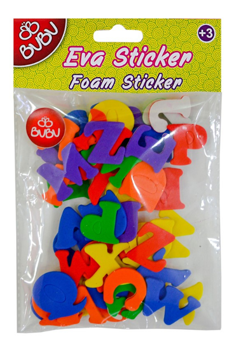 BU-BU Eva Sticker Karışık Harfler