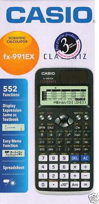 Casıo FX-991EX SCIEN 552 Fonksiyonlu Bilimsel Hesap Makinesi