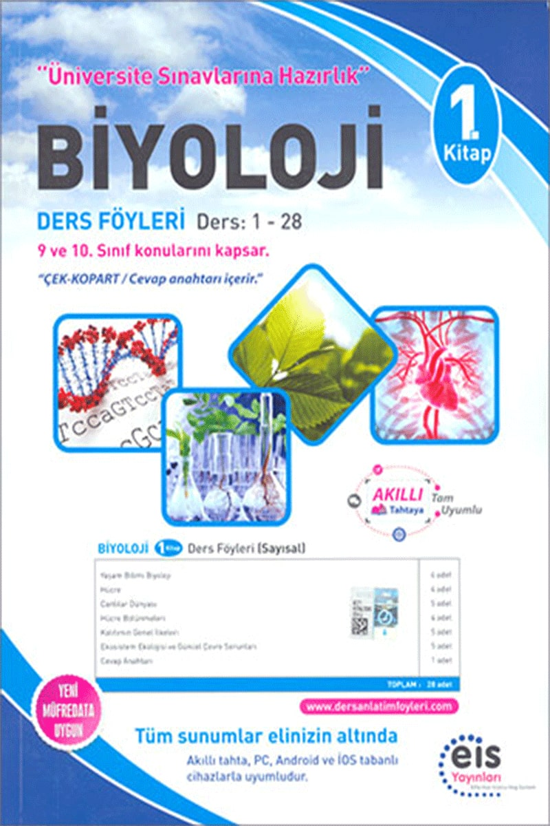 Eis Üniversite Sınavlarına Hazırlık Biyoloji DAF Ders Anlatım Föyleri 1. Kitap 1-28