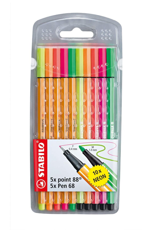 Stabilo Kalem Seti Point 88 + Pen 68 Neon 10'lu Paket