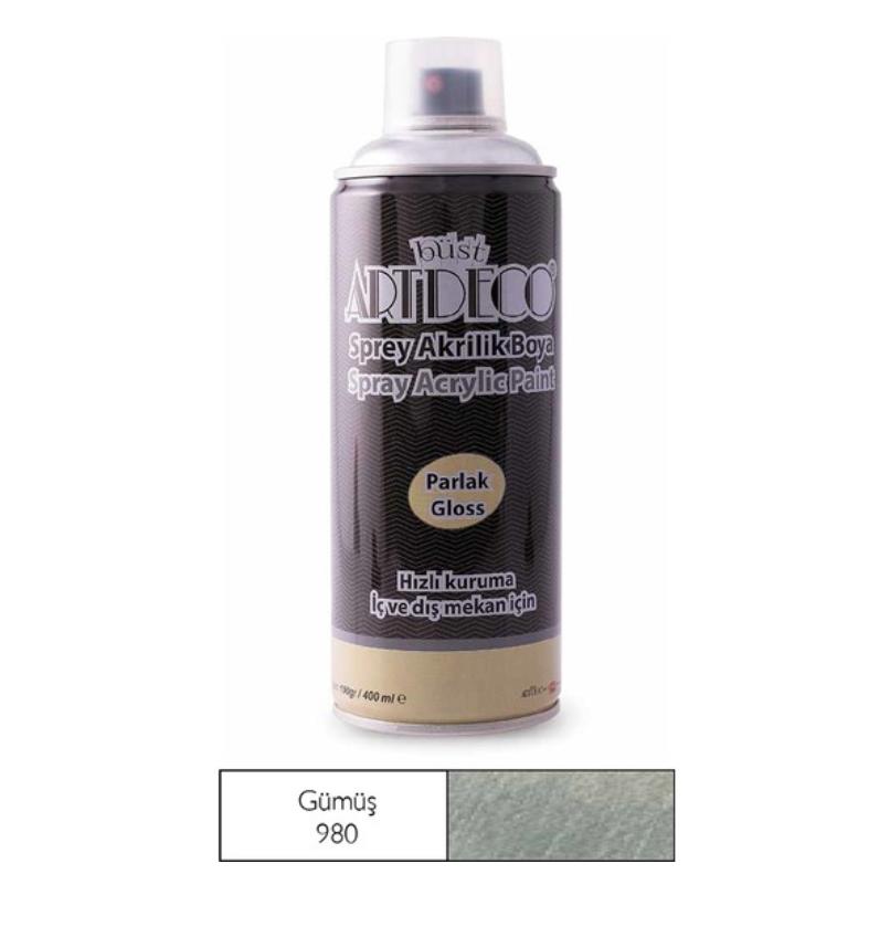 Artdeco Sprey Boya 400 ml Gümüş