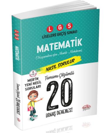 LGS Matematik 20 Deneme Sınavı