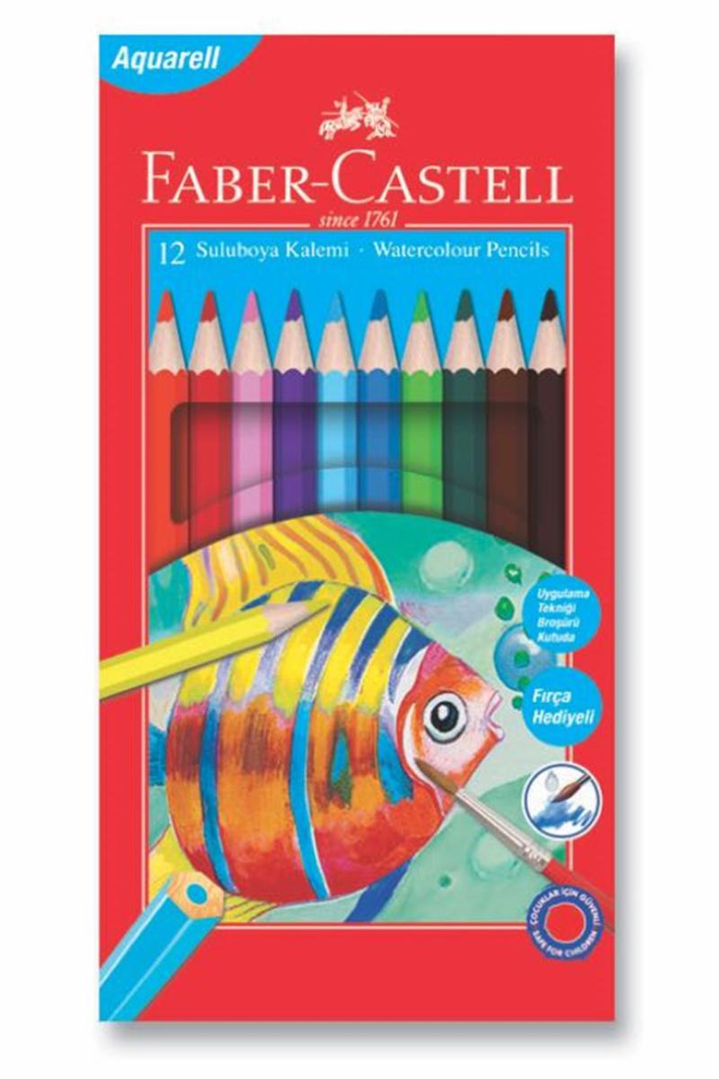 Faber Castell Kuru Boya Aquarel Karton 12 Renk