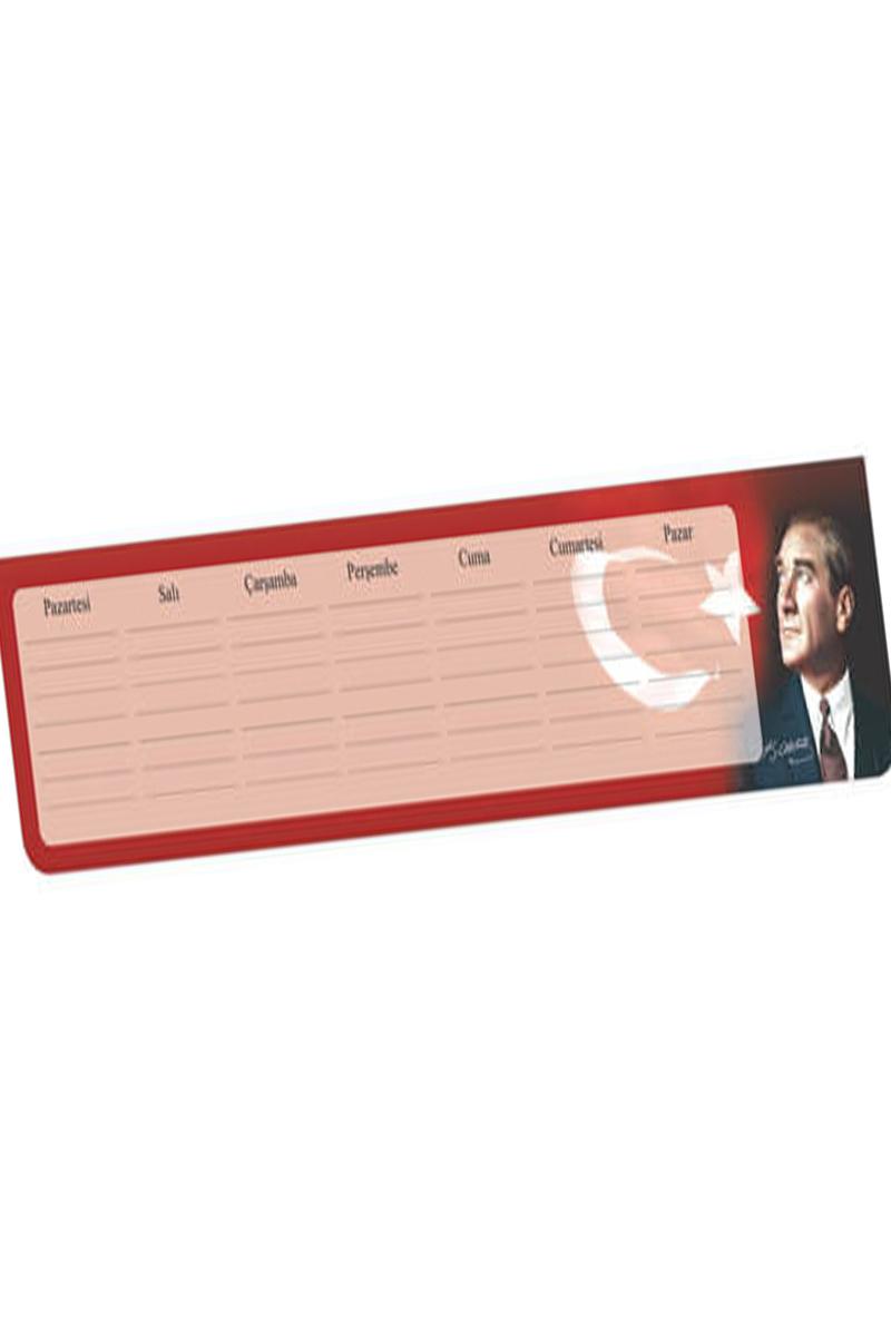Keskin Color 7,5 x 40 Klavye Önü Haftalık Blok-Atatürk