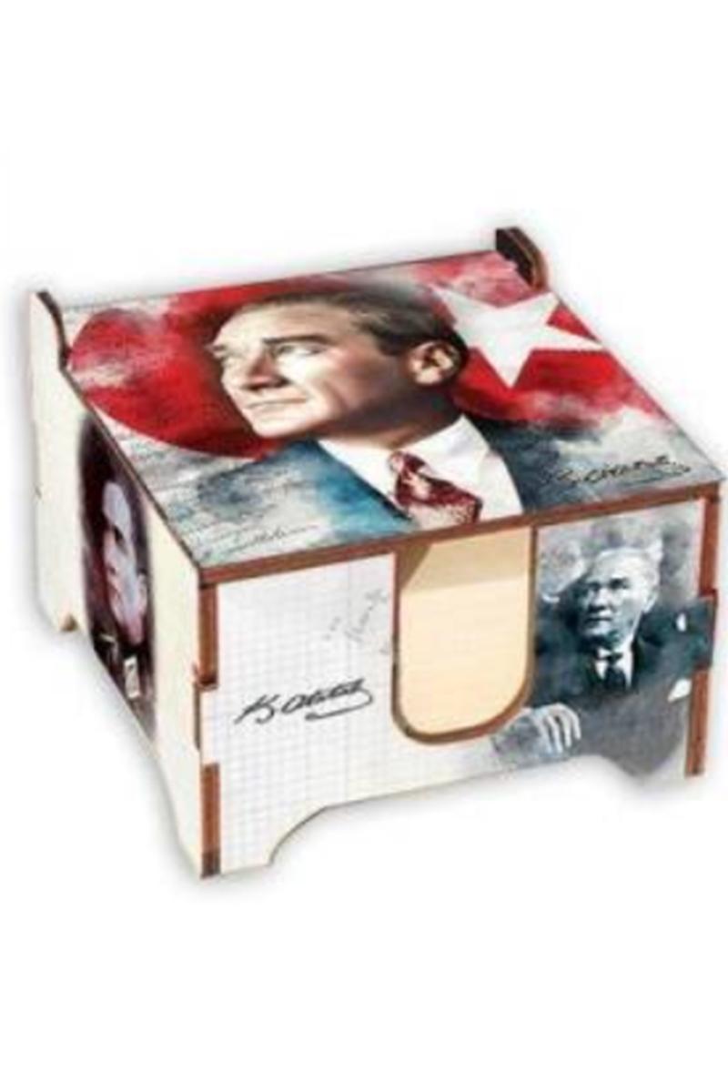 K.Color Ahşap Küp Blok Atatürk