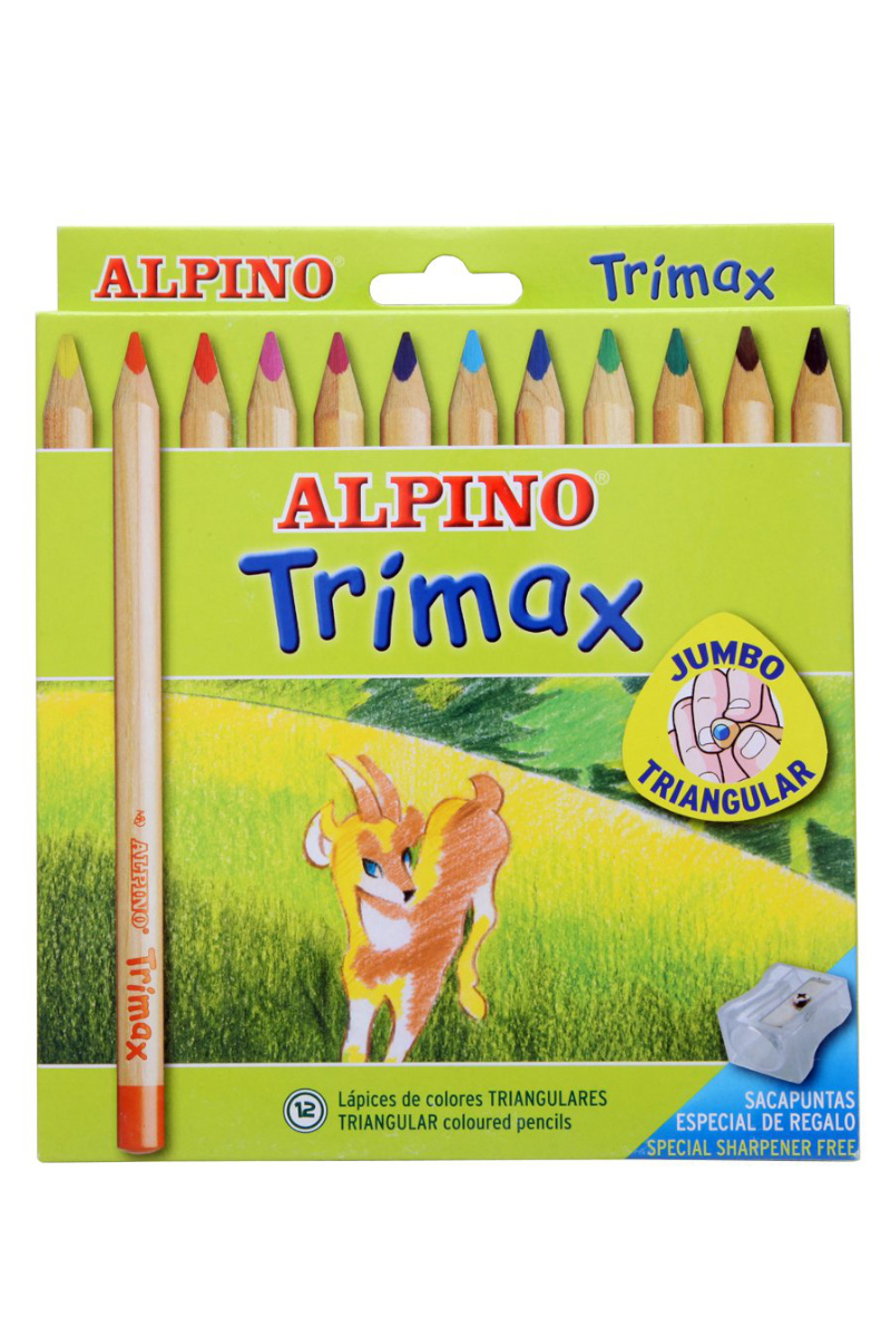 Alpino Boya Kalemi Jumbo Trimax 12'li