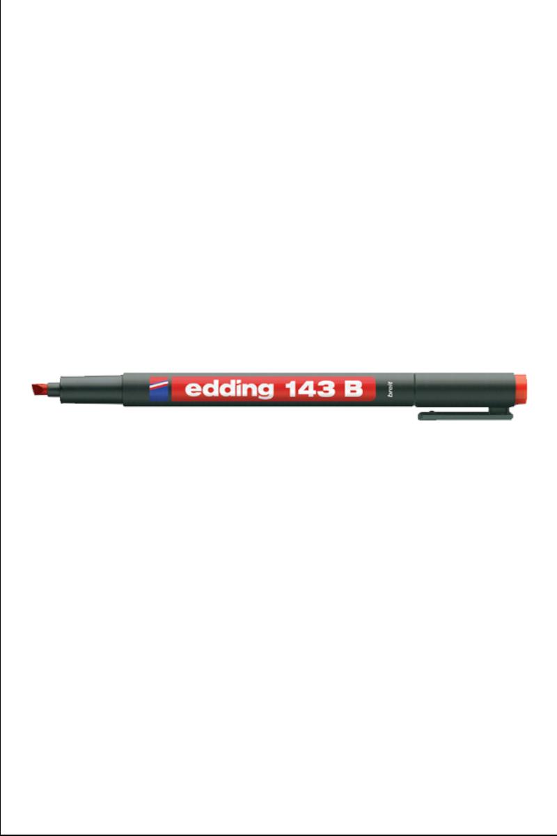 Edding 143-B Asetat Kalemi Kırmızı