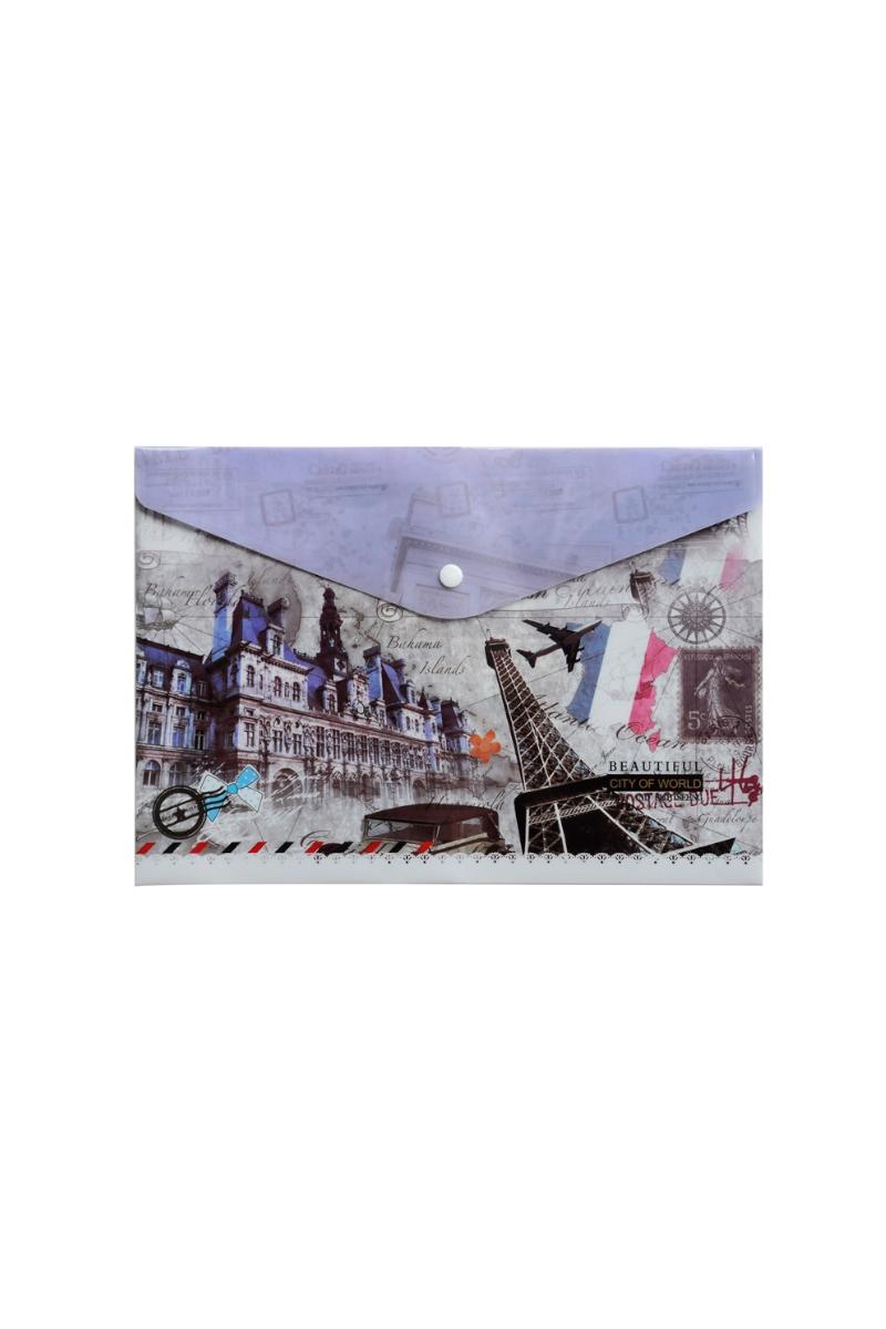Vtk Paris Desenli Çıtçıtlı Dosya