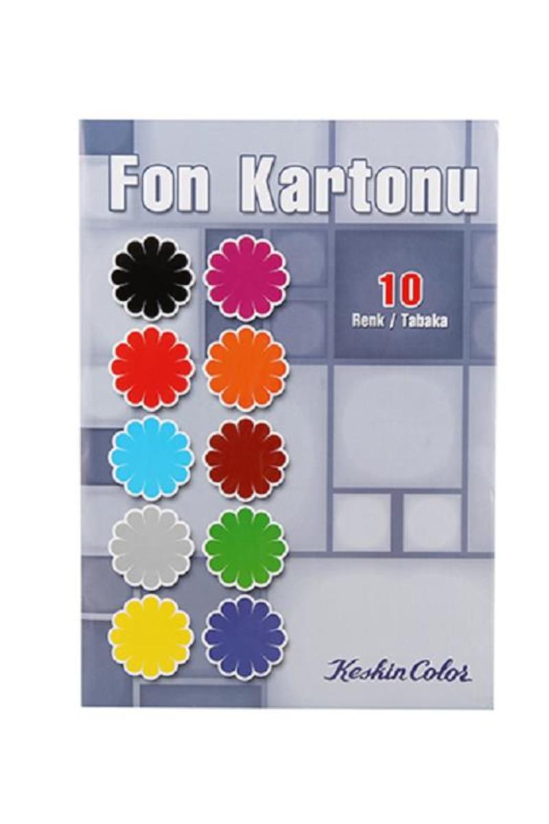 Keskin Color Fon Kartonu Zarflı 10 Renk