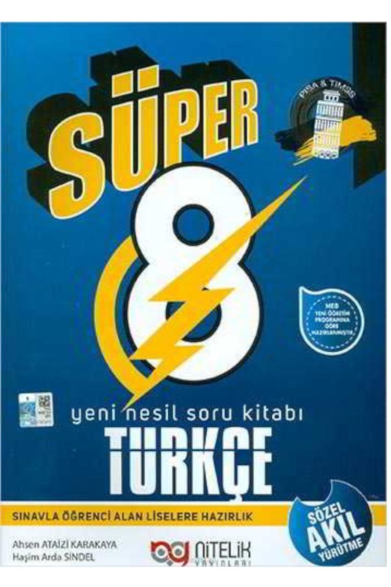 Nitelik Süper 8 Sınıf Türkçe Soru Bankası