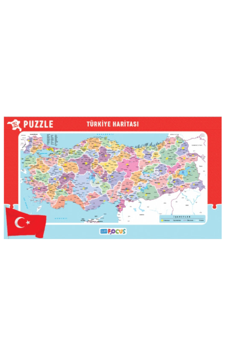 Blue Focus Küçük Boy Türkiye Haritası Puzzle