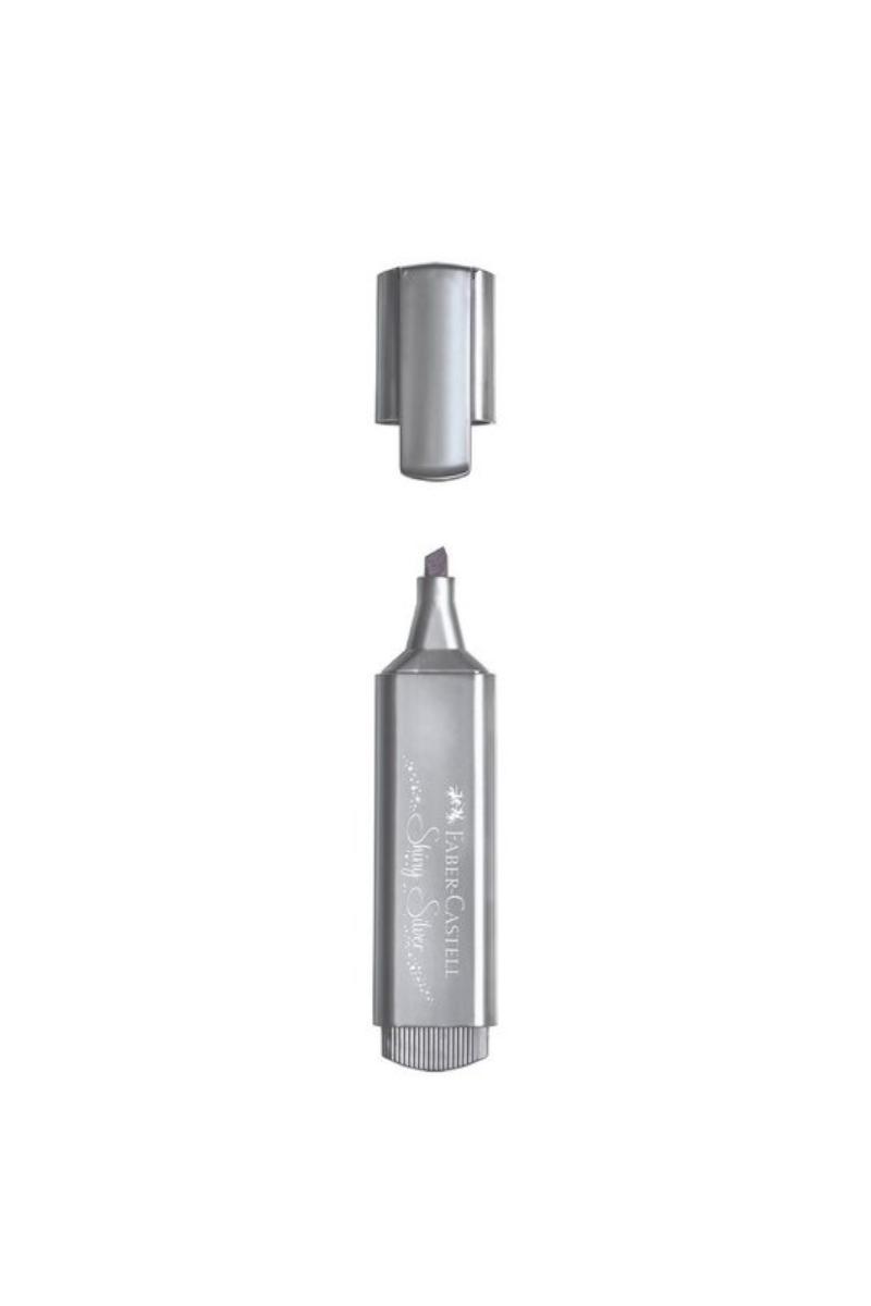 Faber Castell Fosforlu Kalem 46 Metalik Gümüş