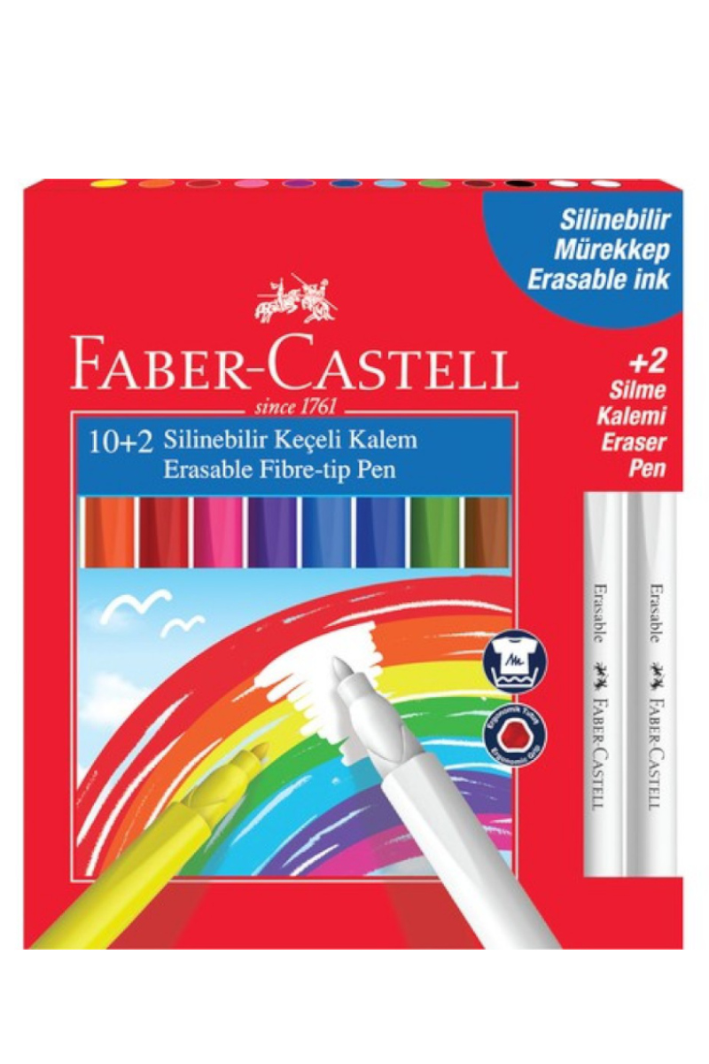 Faber Castell Silinebilir Keçeli Kalem 12'li
