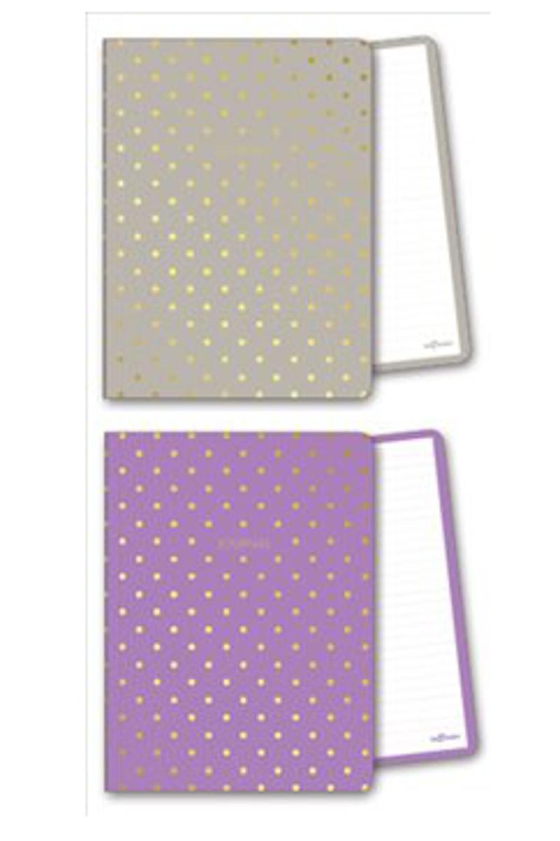 Le Color Shine Kum/Mor Çizgili Defter 14x20 128 Yaprak