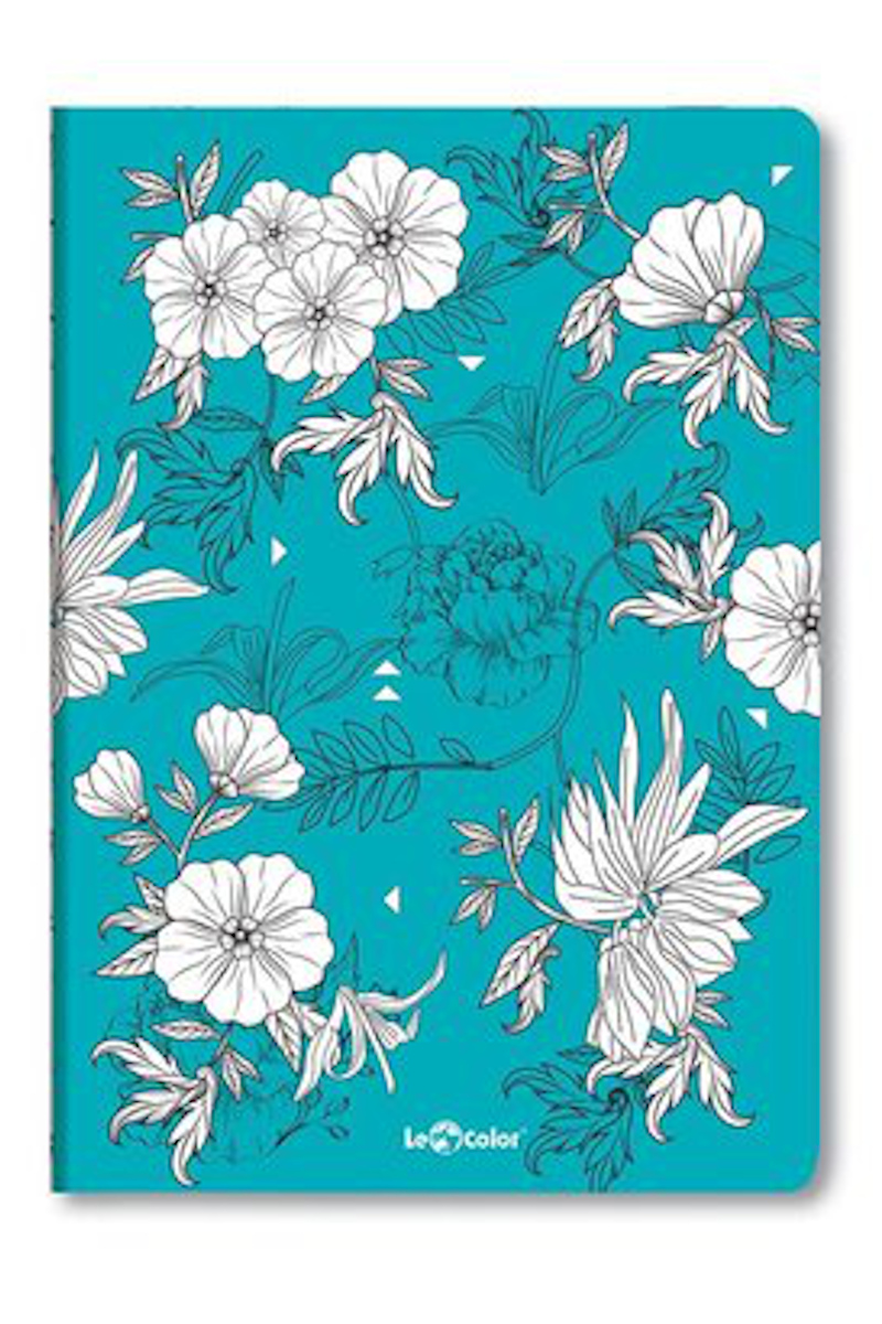Le Color Botanic Mavi Noktalı Defter 17x24 192 Yaprak