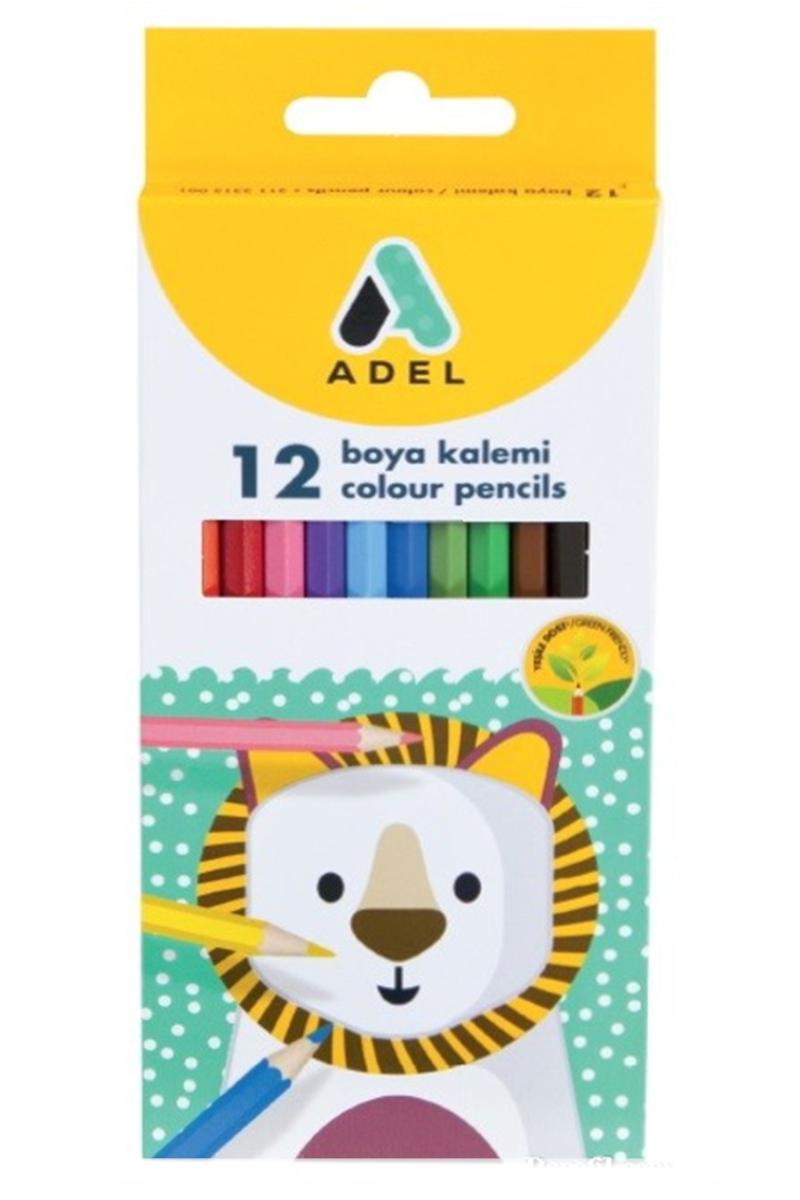 Adel Karton Kuru Boya Kalemi 12 Renk Tam Boy