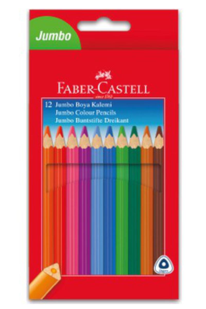 Faber Castell Üçgen Boya Kalemi 12'li Tam Boy