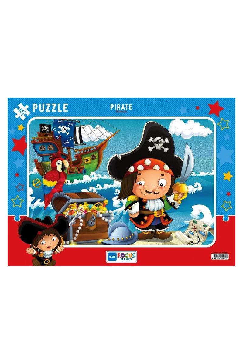 Blue Focus 72 Pcs Korsan Puzzle