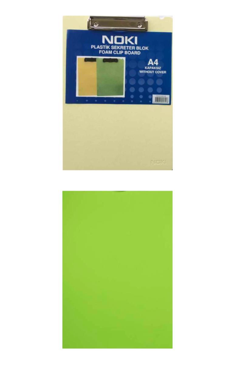 Noki Plastik Kapaksız Sekreterlik Blok A4 Yeşil