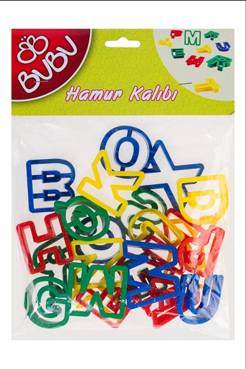BU-BU Oyun Hamuru Kalıb Harfler 26 Parçalı