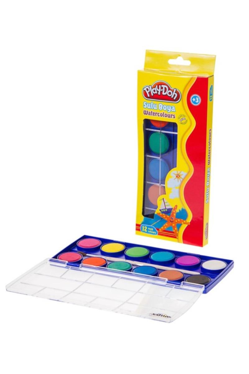 Play-Doh 12 Renk Sulu Boya Büyük Play-Su003