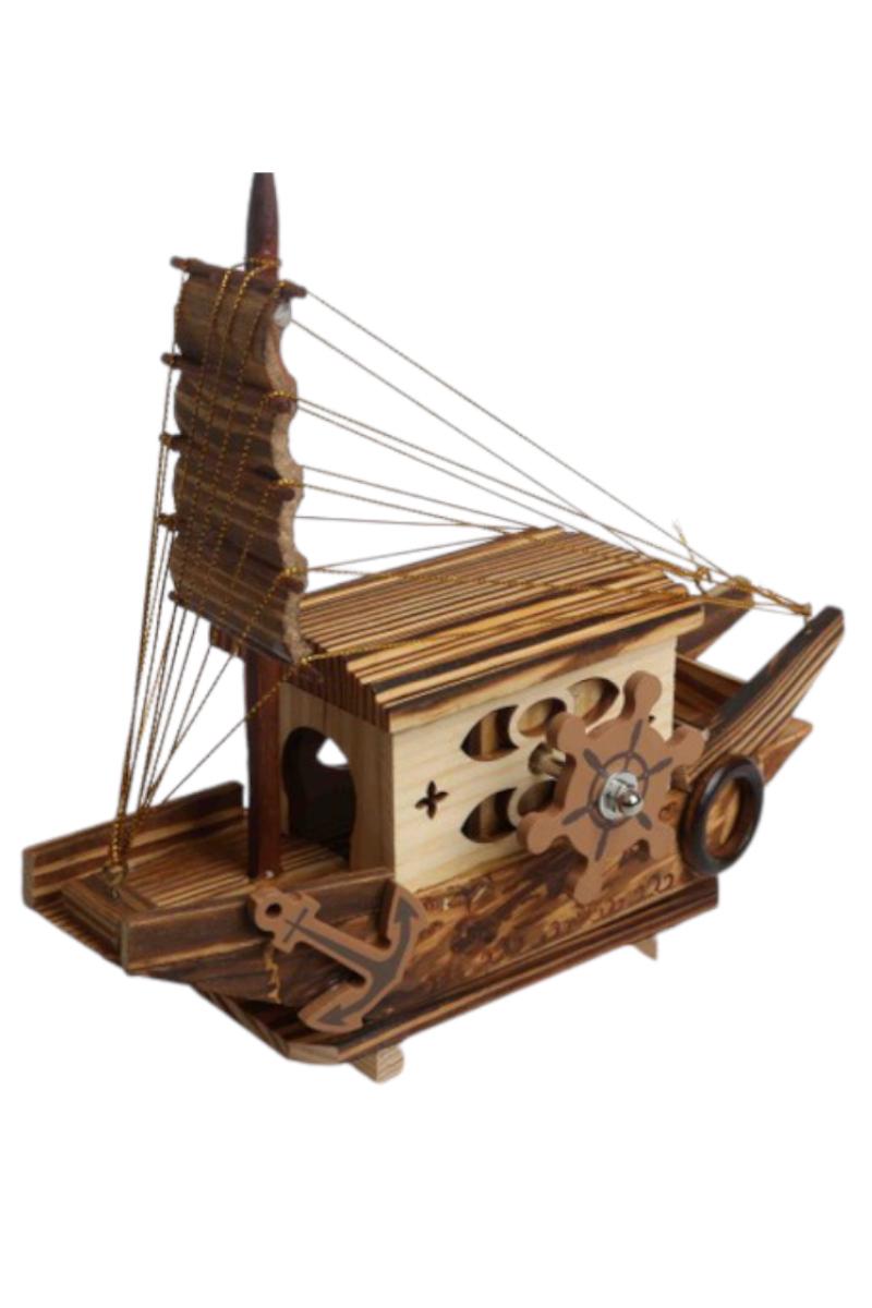 Ahşap Müzikli Gemi