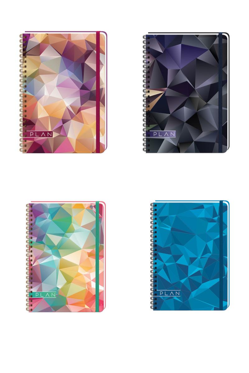 Keskin Color Plan Crystal Defter 17X24 100 Yaprak Çizgili