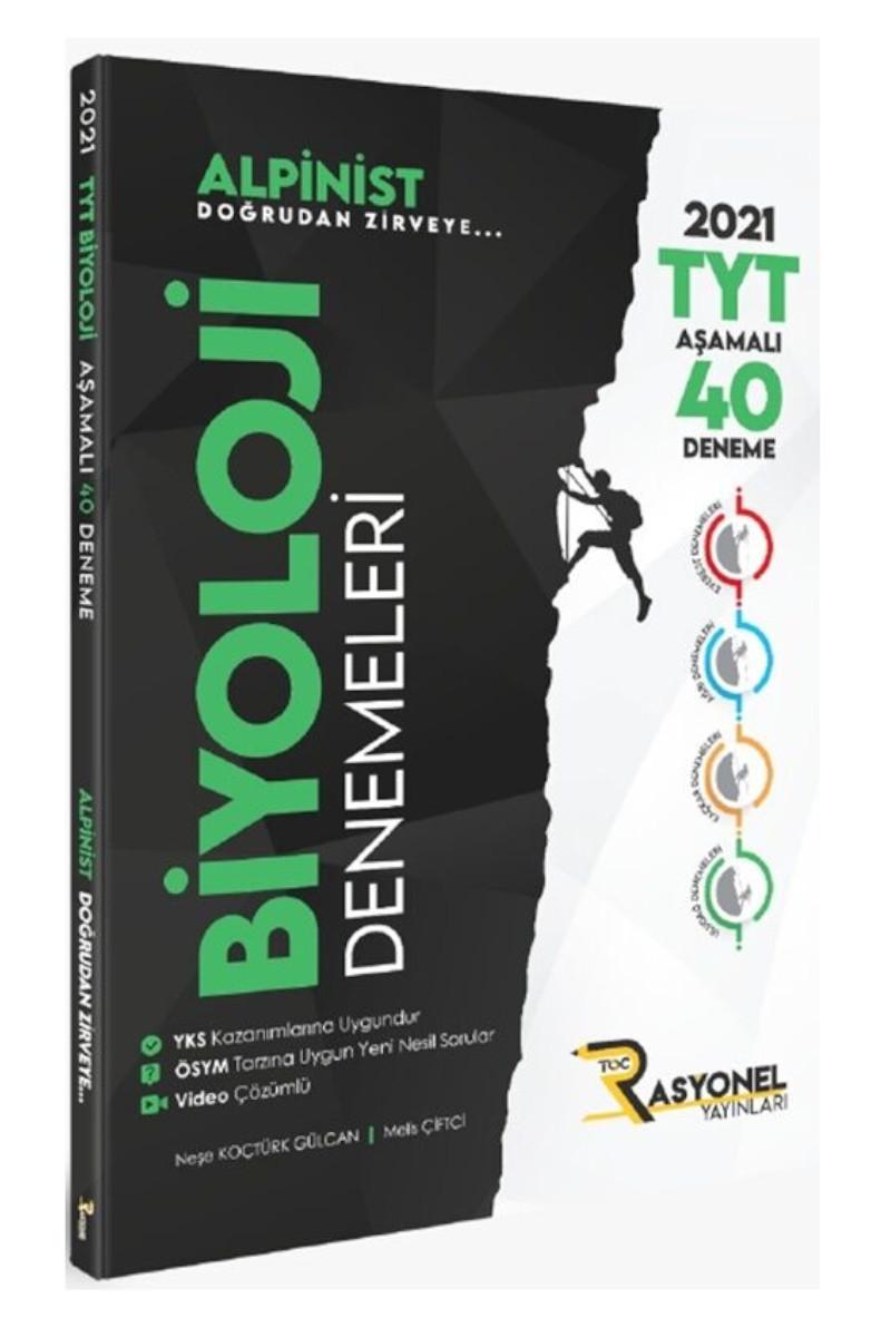 Rasyonel Yayınları Tyt Biyoloji Alpinist Aşamalı 40 Deneme