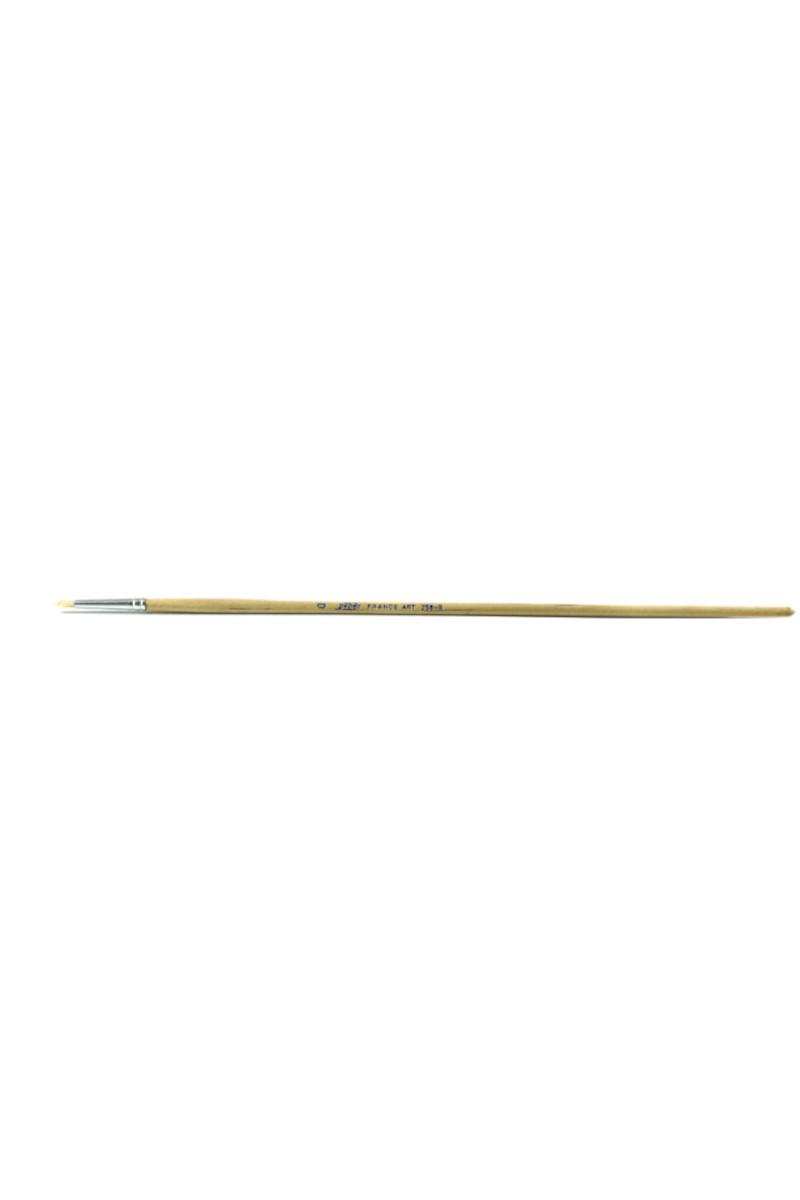 Pebeo Beyaz Kıl Yuvarlak Doğal Sap No:258r/0
