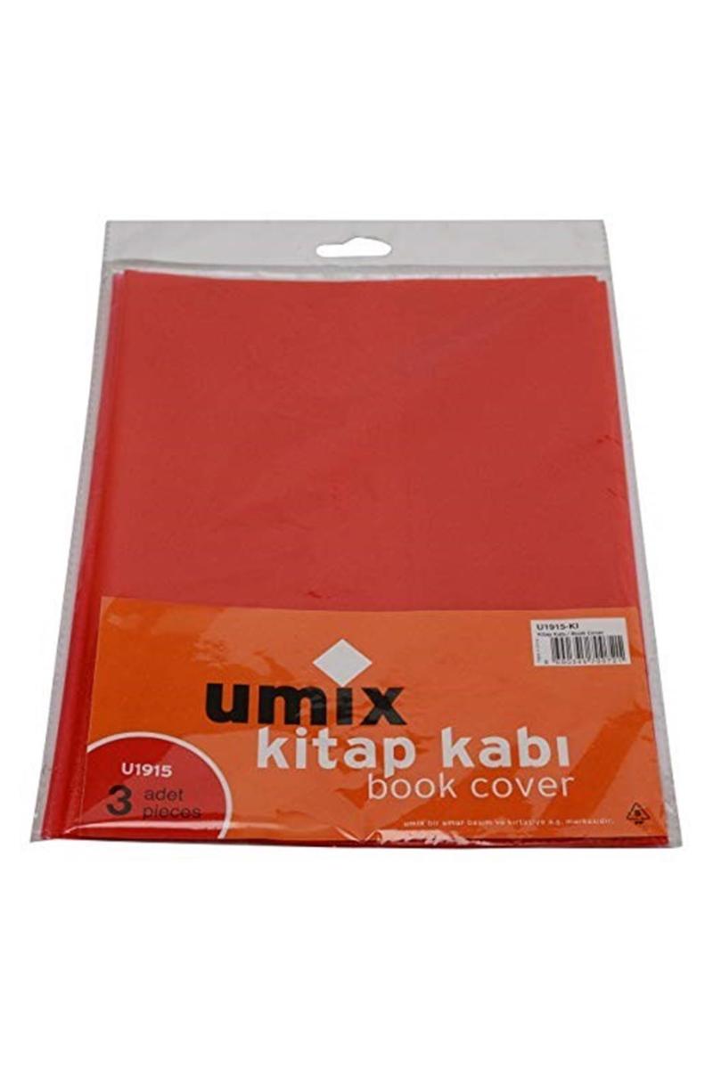 Umix Bantlı Kitap Kabı 3lü Kırmızı