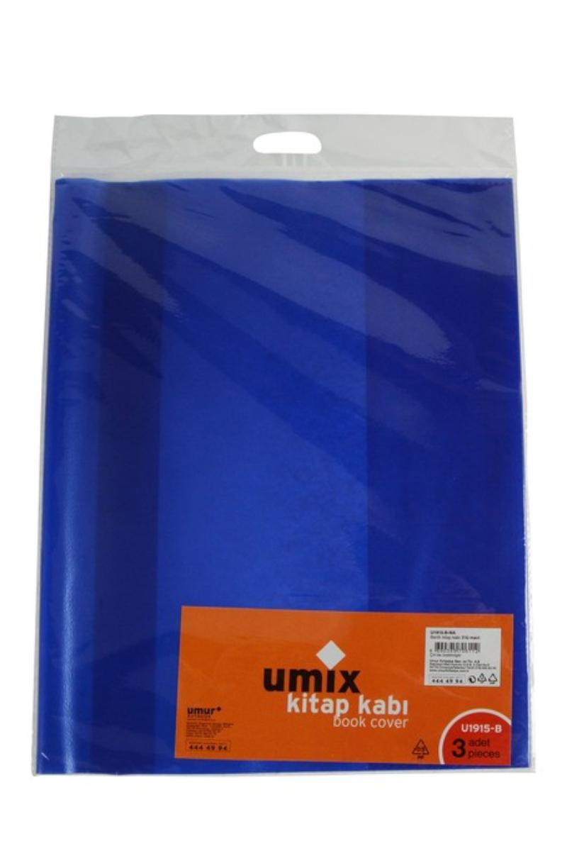 Umix Bantlı Kitap Kabı 3lü Mavi