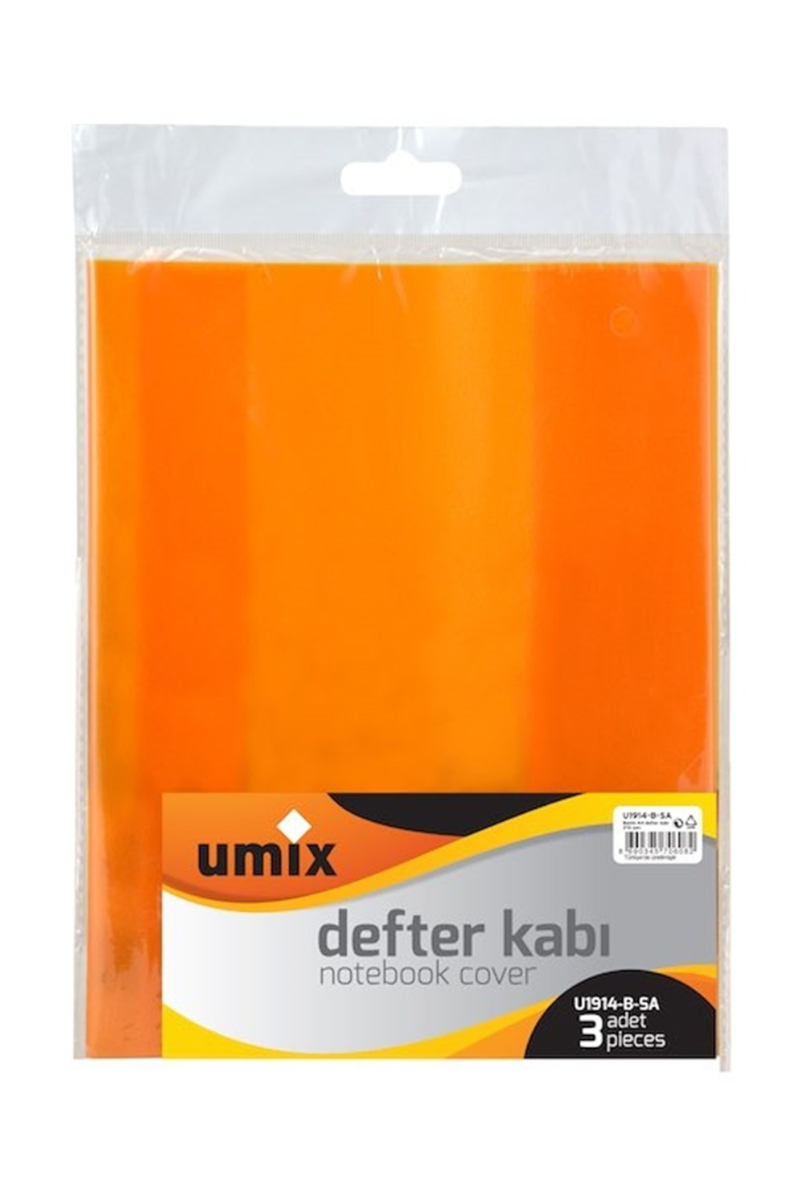 Umix Bantlı A4 Defter Kabı 3lü Sarı