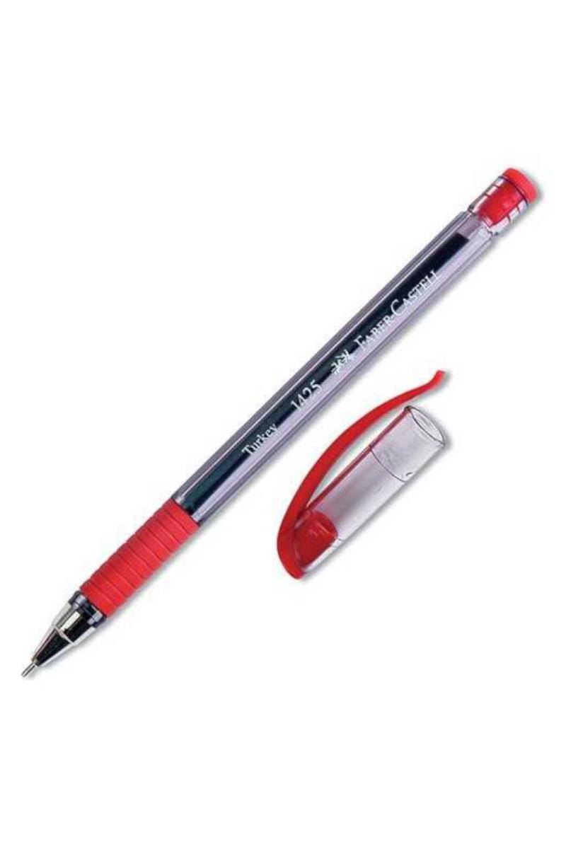 Faber Castell Tükenmez Kalem 1425 İğne Uç Kırmızı