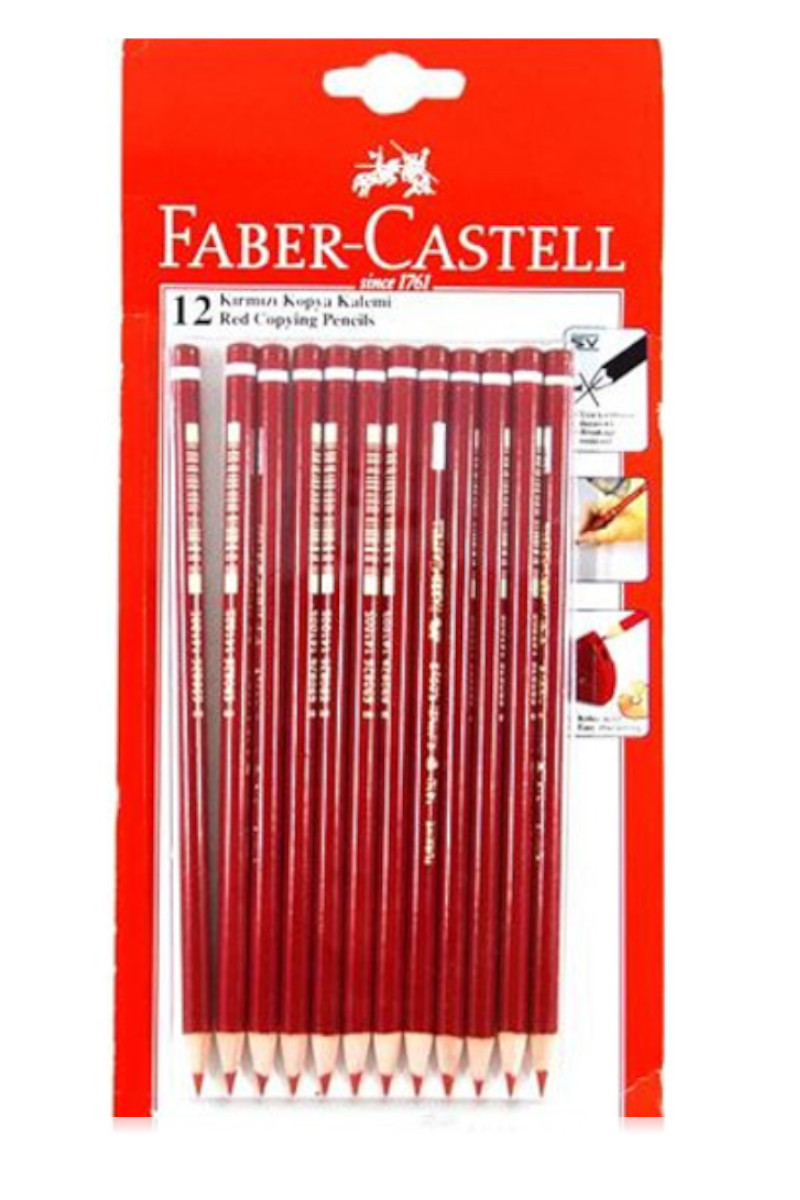 Faber Castell Kırmızı Kopya Kalemi 12'li