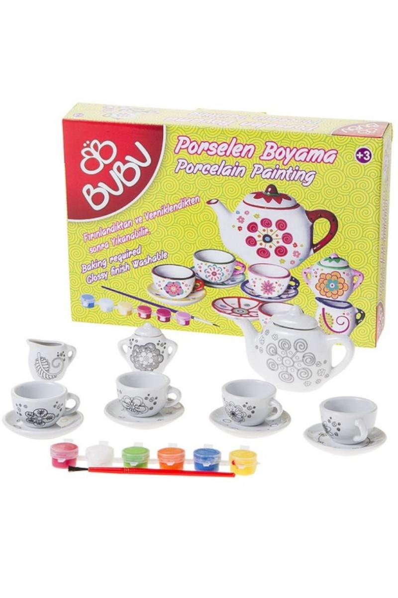 Bu-Bu Porselen Boyama Çay Seti 13 Parça