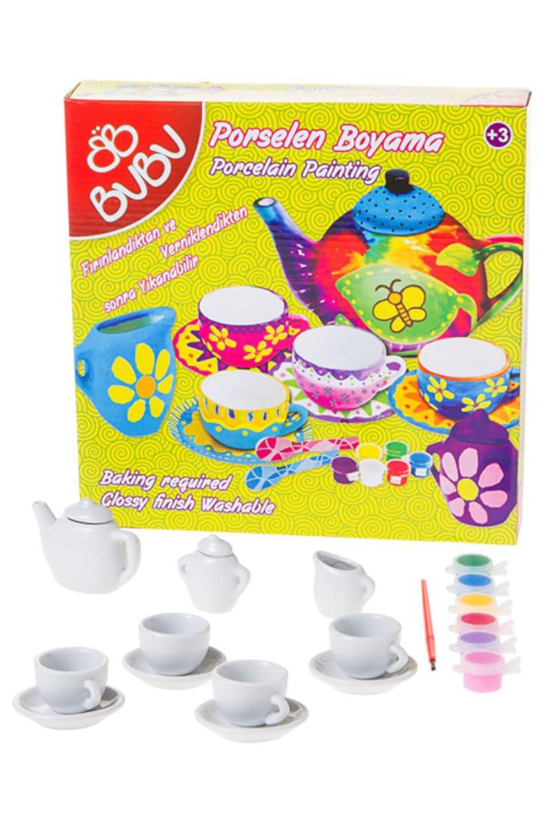 Bu-Bu Porselen Boyama Çay Keyfi Set-1