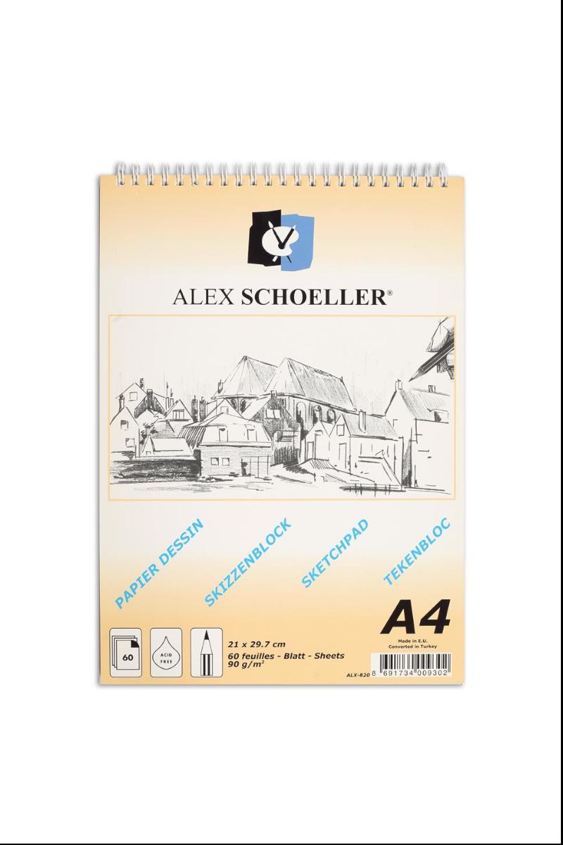 Alex Sch.Spr.Eskiz Blok 90gr A4 60yp Dik Alx-820