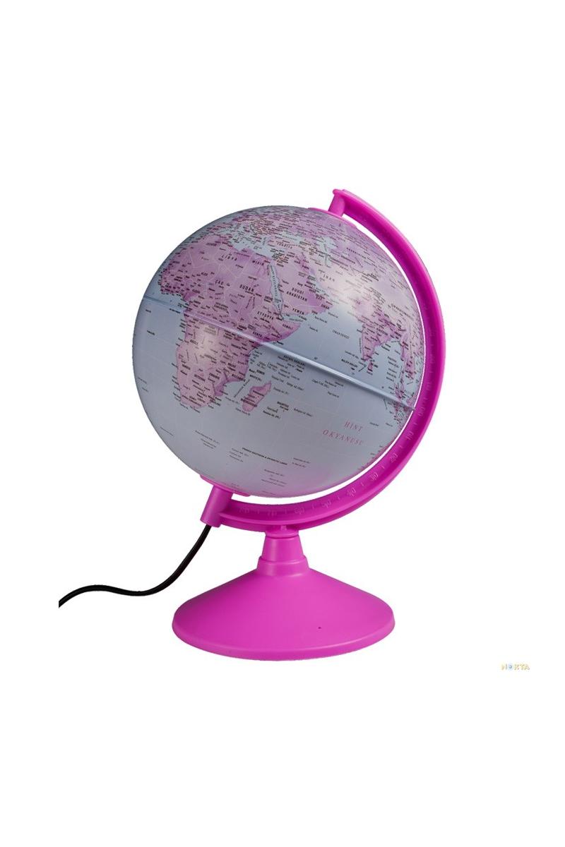 Gürbüz Işıklı Pembe Siyasi Küre 20cm