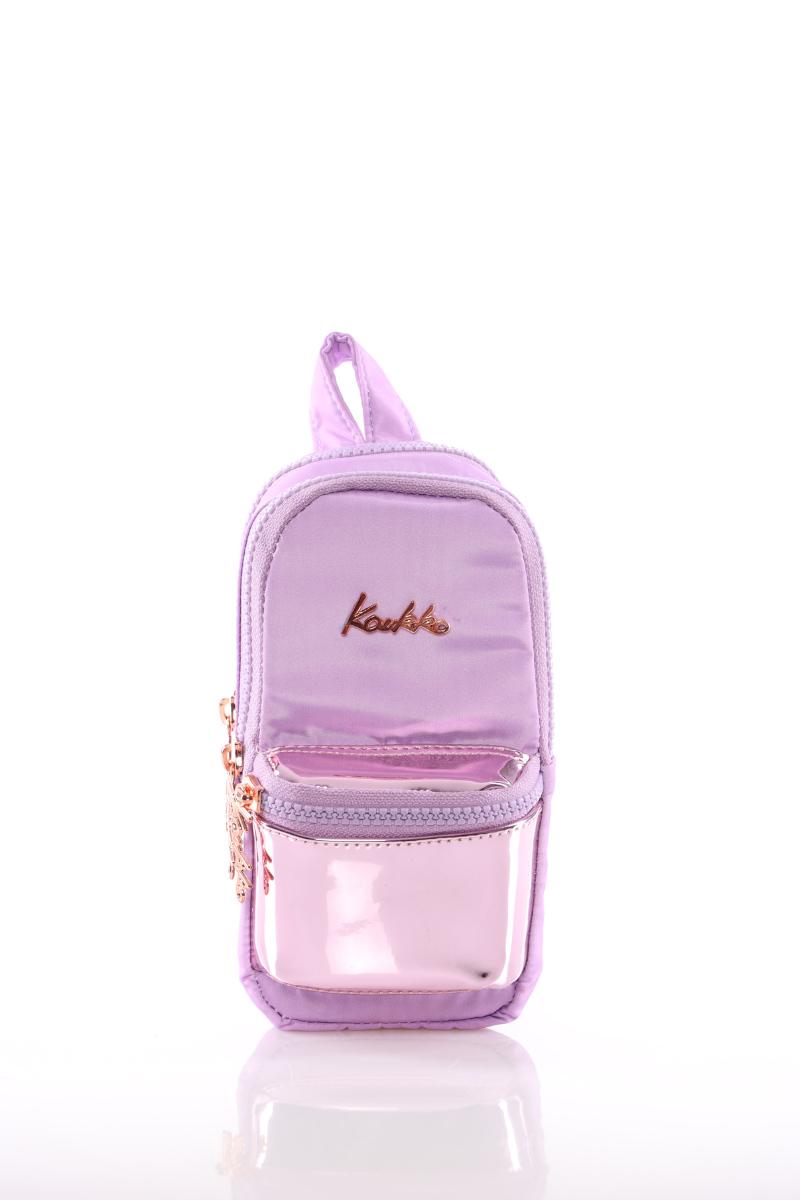 Kaukko Bright Junior Bag Kalem Çantası (Aynalı-Lila)