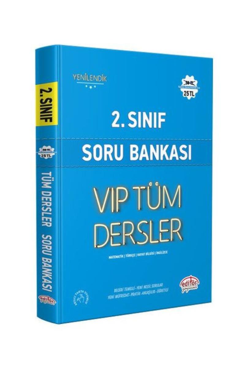 Editör Vip 2. Sınıf Tüm Dersler Soru Bankası Mavi Kitap Kamp: