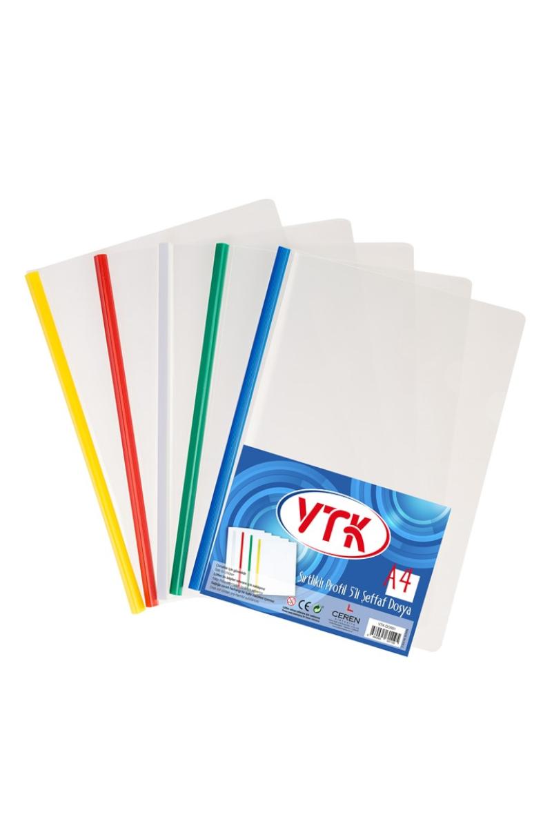 Vtk A4 Sırtlıklı Şeffaf Dosya 5 Li Vtk-Dos01