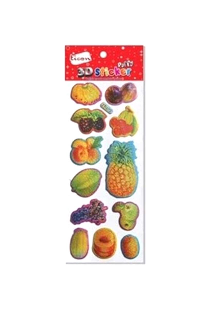 Ticon 3D Puffy Sticker