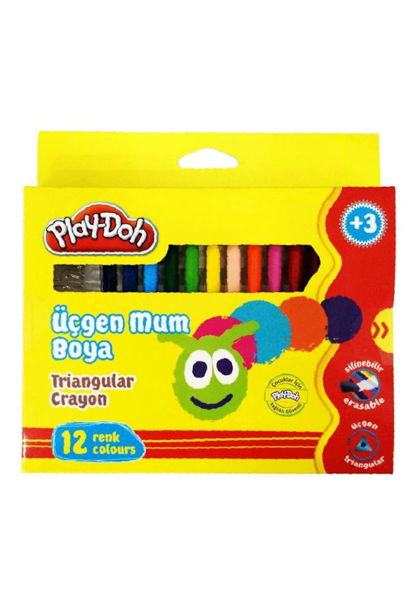 Play-Doh Üçgen Crayon Mum Boya 12 Renk
